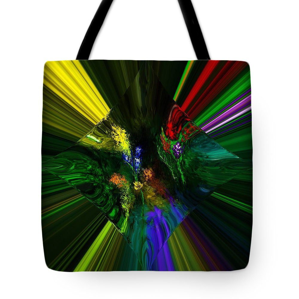 Digital Painting Tote Bag featuring the digital art Abstract Garden by David Lane