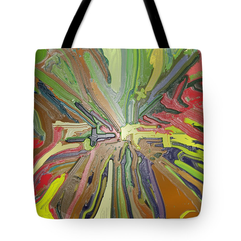 Absract Tote Bag featuring the digital art Abstract Garden Wrapped by Ian MacDonald