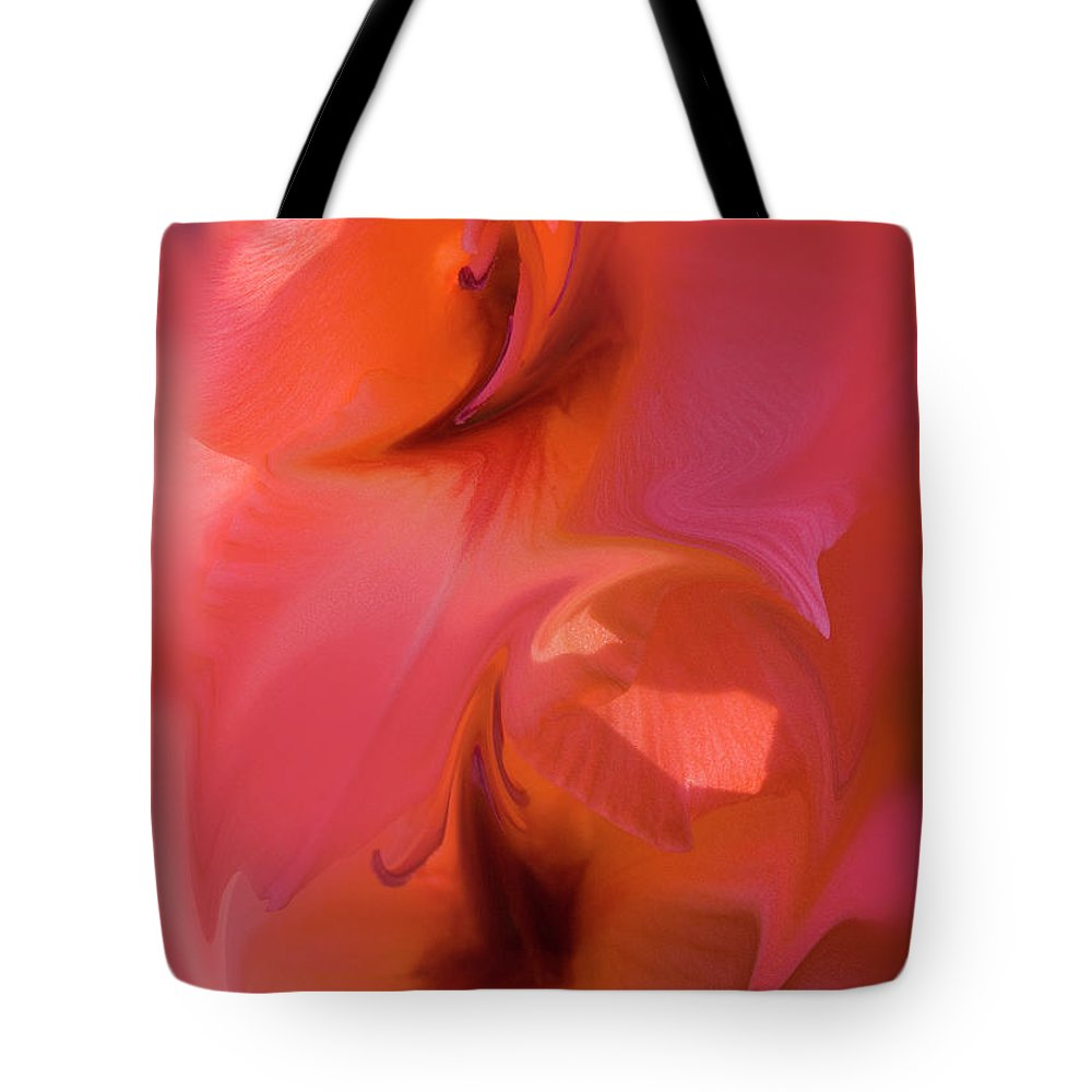 Abstract Flower Tote Bag featuring the photograph Abstract Gladiolus by Brian Roscorla