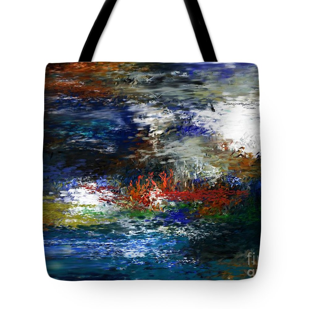 Abstract Tote Bag featuring the digital art Abstract Impression 5-9-09 by David Lane