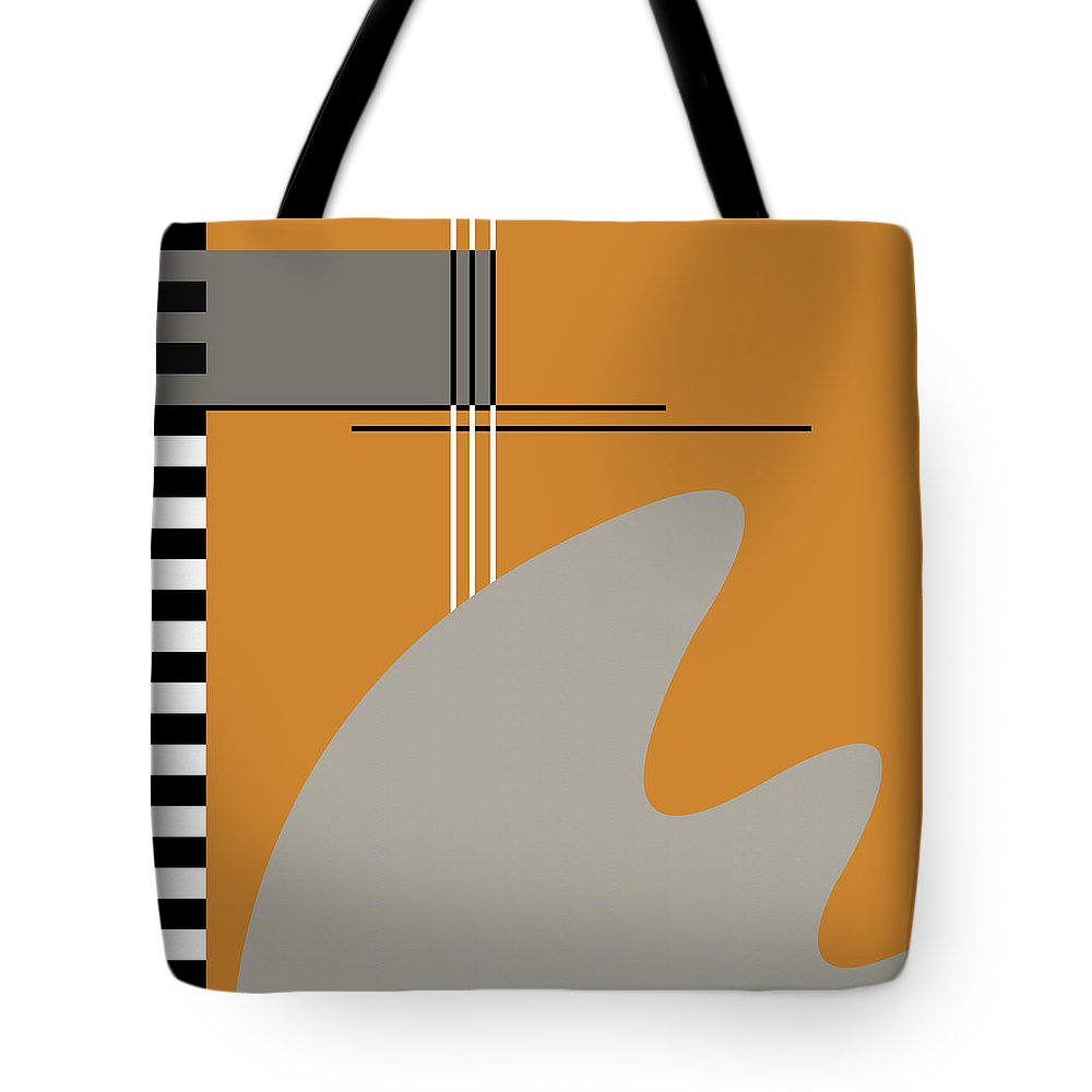 Abstract Tote Bag featuring the digital art Abstract In Orange by Absentis Designs