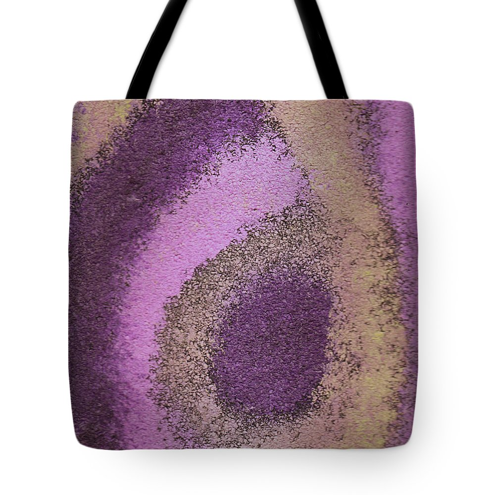 Abstract Tote Bag featuring the painting Abstract In Pink by Wayne Potrafka