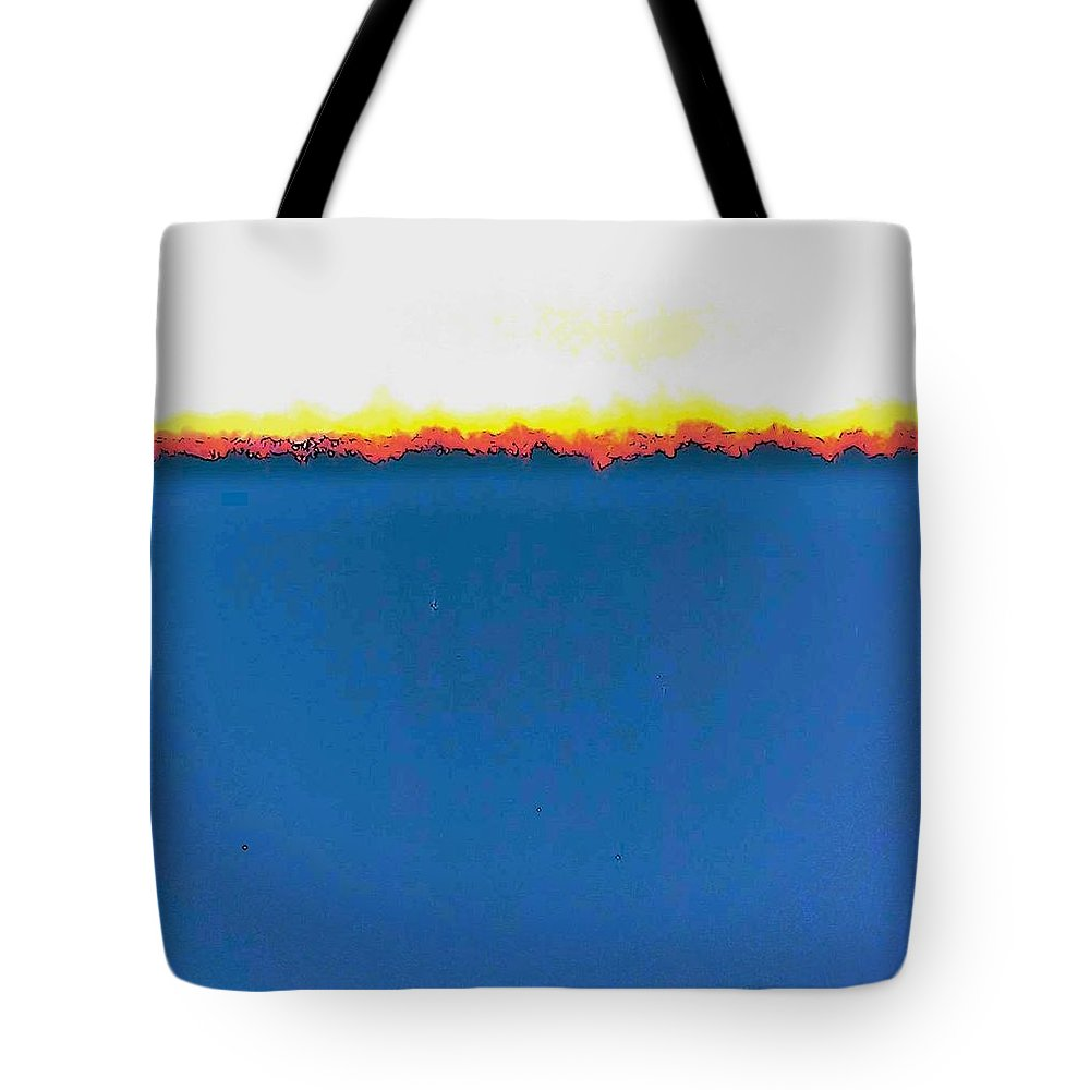 Abstract Tote Bag featuring the photograph Abstract In Primary Colors by Lenore Senior