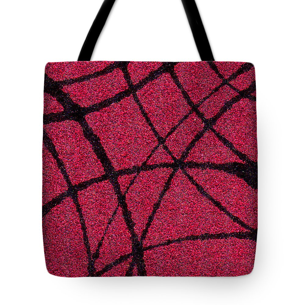 Abstract Tote Bag featuring the painting Abstract In Red And Black by Wayne Potrafka