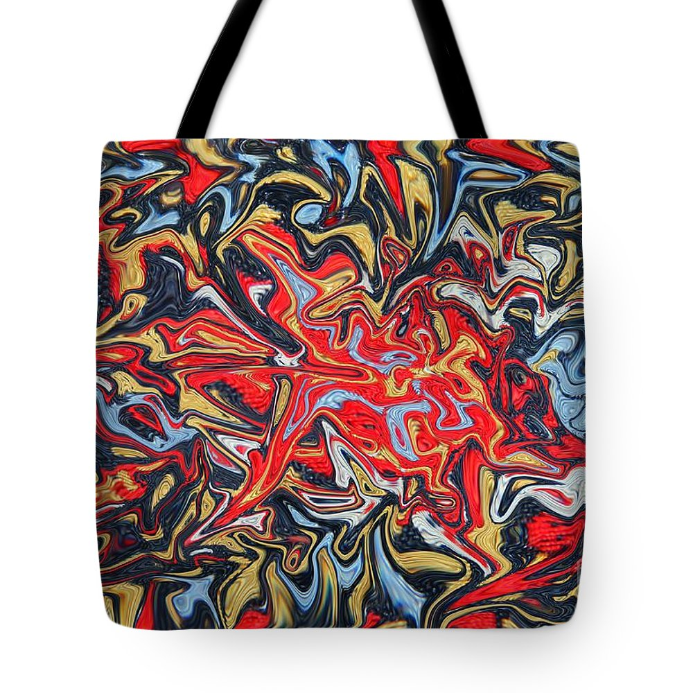 Abstract Tote Bag featuring the photograph Abstract In Red by Kelly Holm