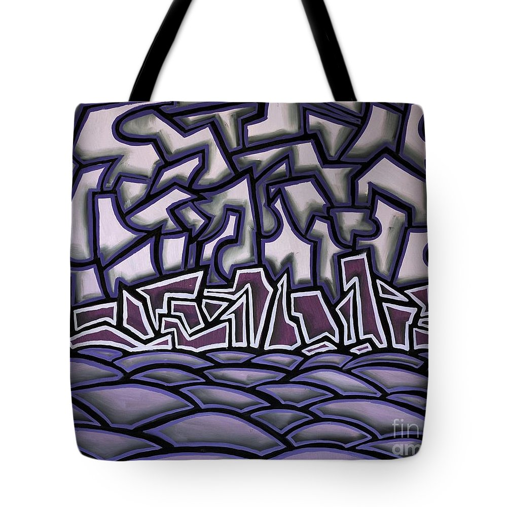 Landscape Tote Bag featuring the painting Abstract Landscape by Thomas Valentine