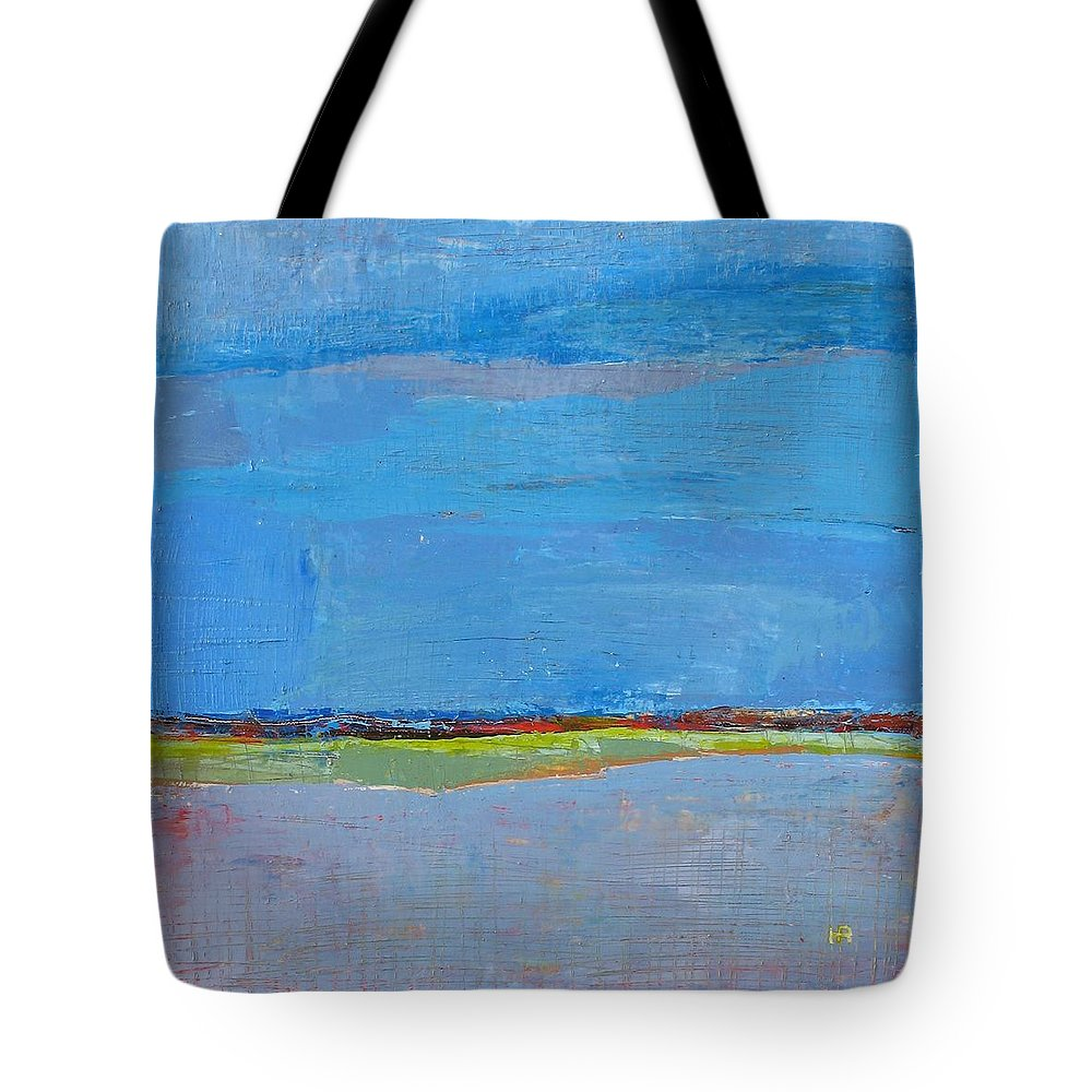 Tote Bag featuring the painting Abstract Landscape1 by Habib Ayat