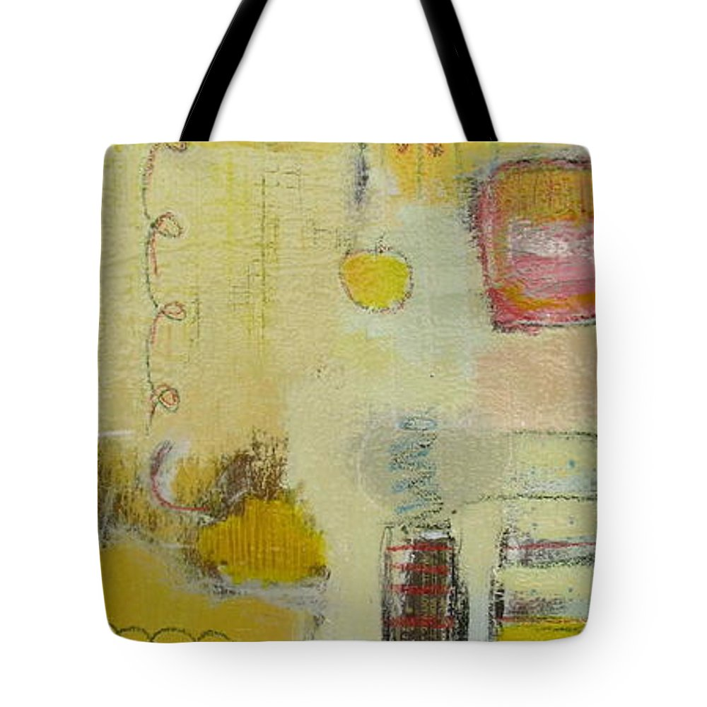 Abstract Tote Bag featuring the painting Abstract Life 1 by Habib Ayat