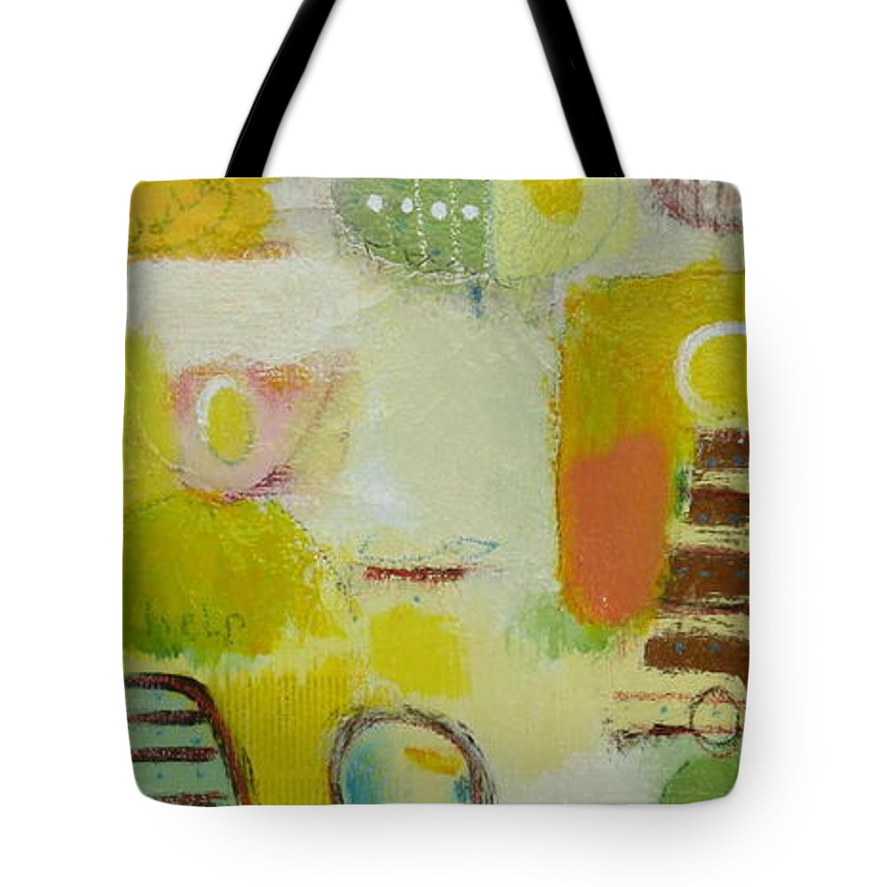 Tote Bag featuring the painting Abstract Life 2 by Habib Ayat