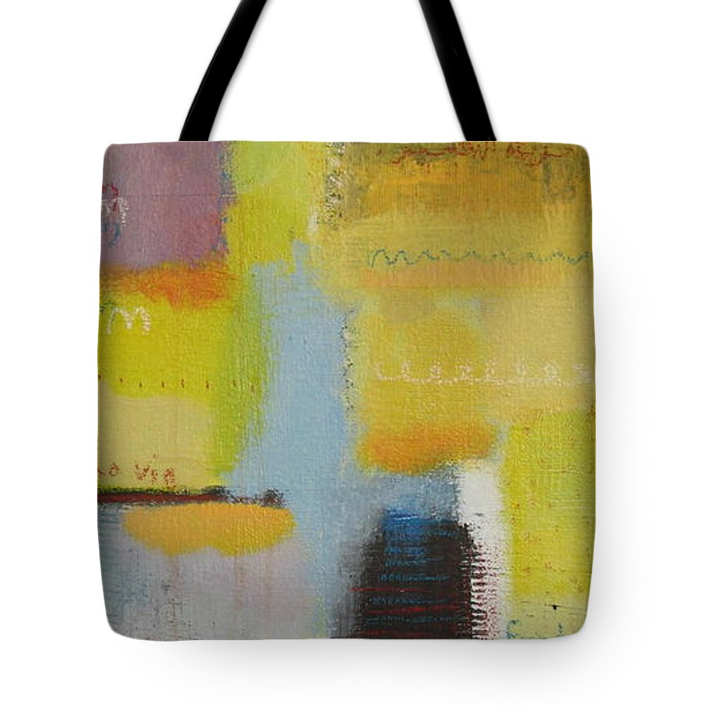 Abstract Tote Bag featuring the painting Abstract Life 3 by Habib Ayat