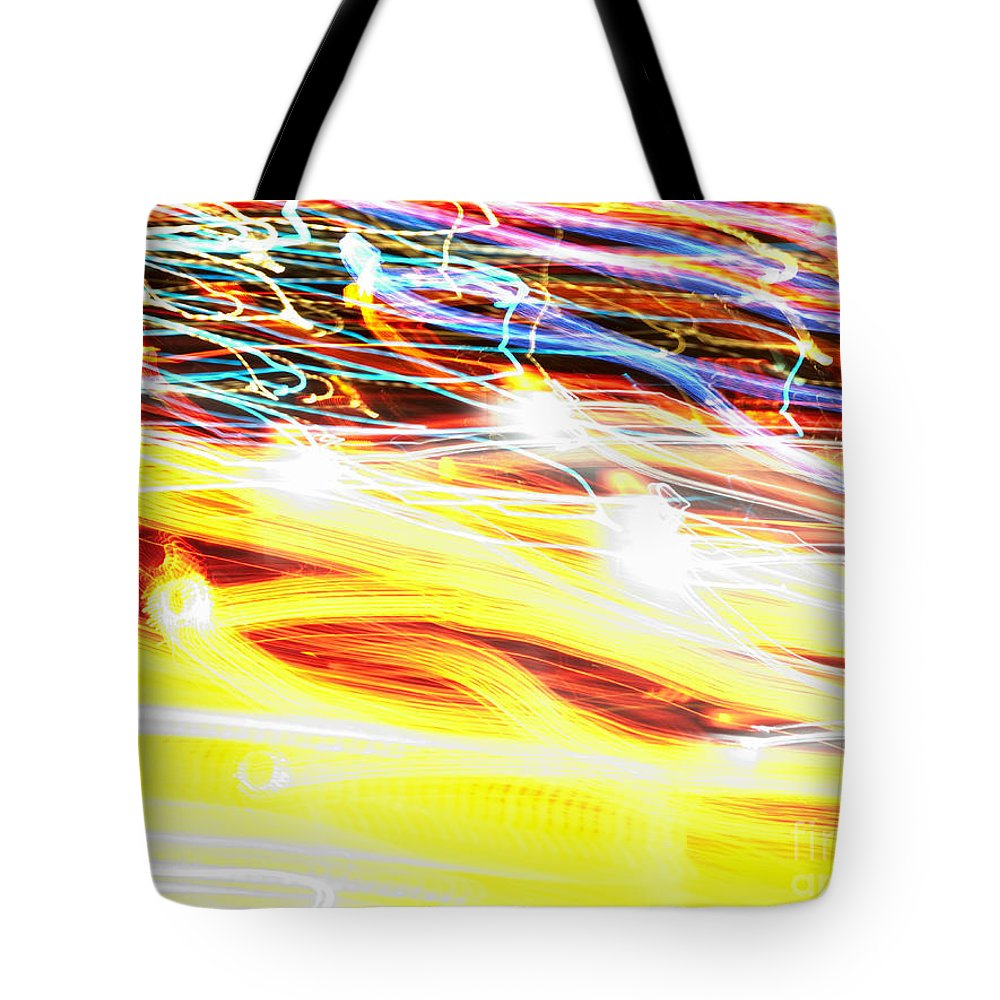 Abstract Tote Bag featuring the photograph Abstract Light by Tony Cordoza