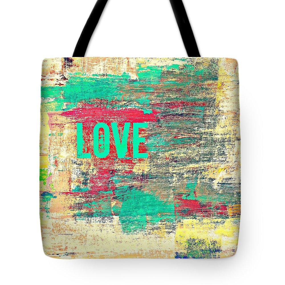 Brandi Fitzgerald Tote Bag featuring the digital art Abstract Love V2 by Brandi Fitzgerald