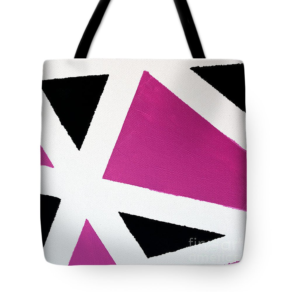 Martha Tote Bag featuring the painting Abstract M1015bp by Mas Art Studio