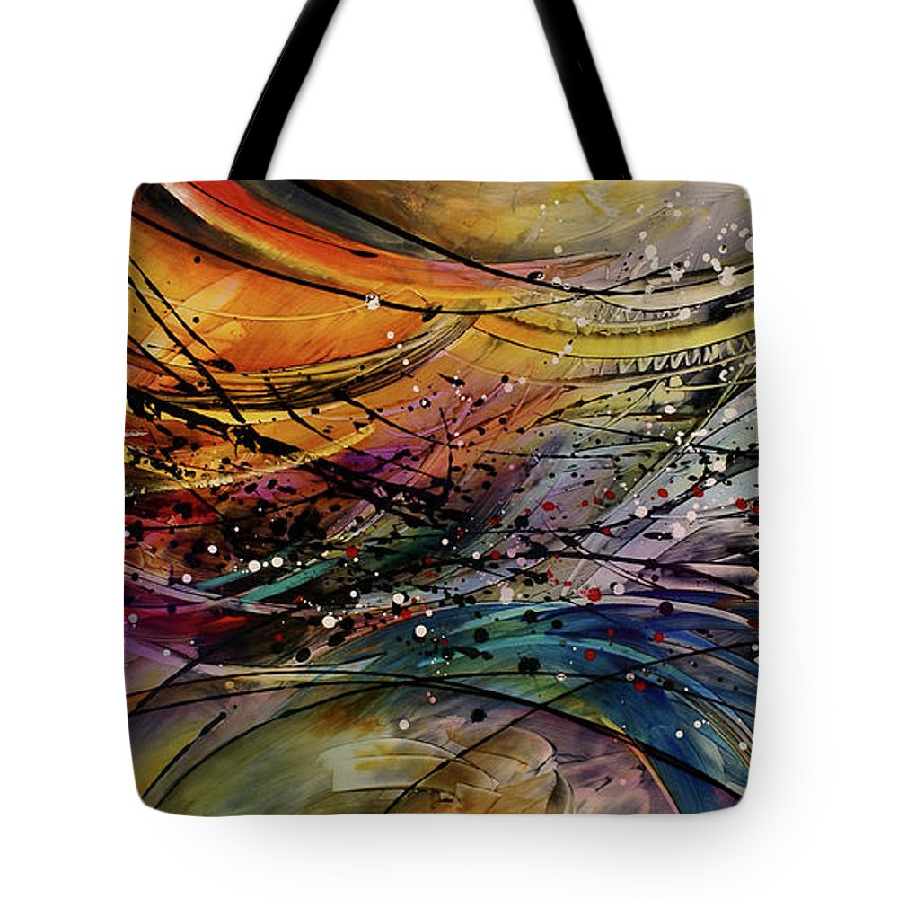 Abstract Art Tote Bag featuring the painting Abstract by Michael Lang