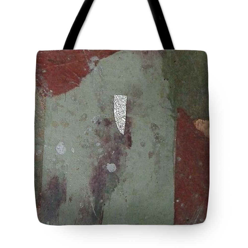 Tote Bag featuring the mixed media Abstract One by Pat Snook