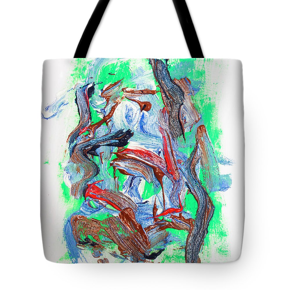 Canvas Tote Bag featuring the painting Abstract Painting. Division Is Their Narrative by Jorgo Photography - Wall Art Gallery