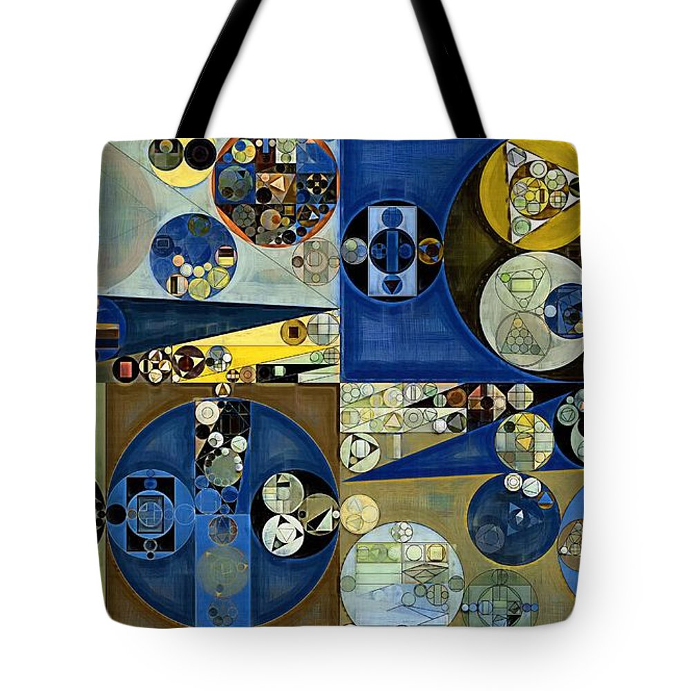 Variation Tote Bag featuring the digital art Abstract Painting - Laurel Green by Vitaliy Gladkiy