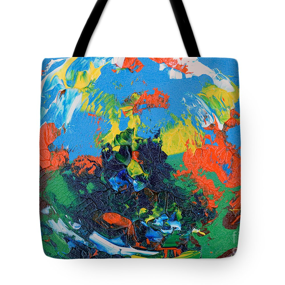 Mas Art Studio Tote Bag featuring the painting Abstract Painting R1115a by Mas Art Studio