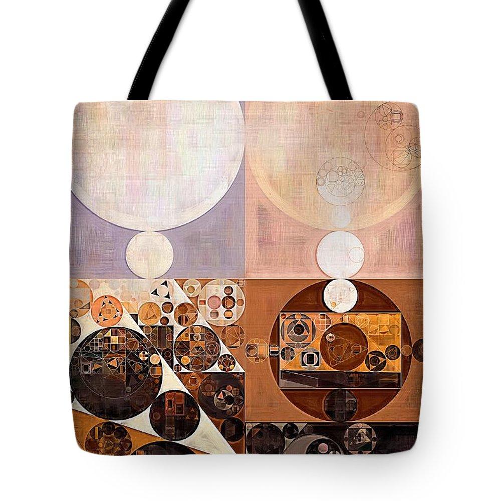 Constructionism Tote Bag featuring the digital art Abstract Painting - Zinnwaldite by Vitaliy Gladkiy