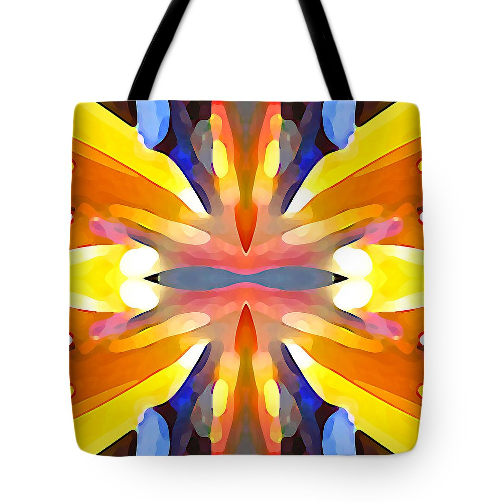 Abstract Art Tote Bag featuring the painting Abstract Paradise by Amy Vangsgard