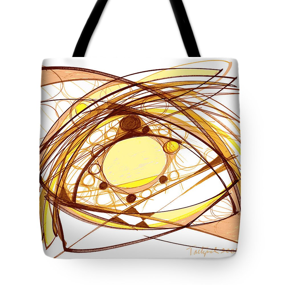 Abstract Art Tote Bag featuring the drawing Abstract Pen Drawing Eleven by Lynne Taetzsch