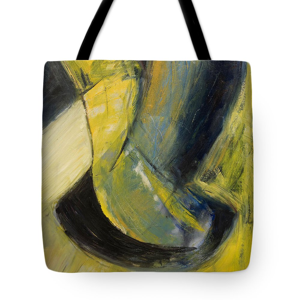 Abstract Tote Bag featuring the painting Abstract Pendulum by Craig Newland