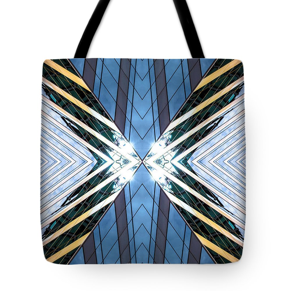 Tote Bag featuring the photograph Abstract Photomontage N87v1 Dsc9063 by Raymond Kunst