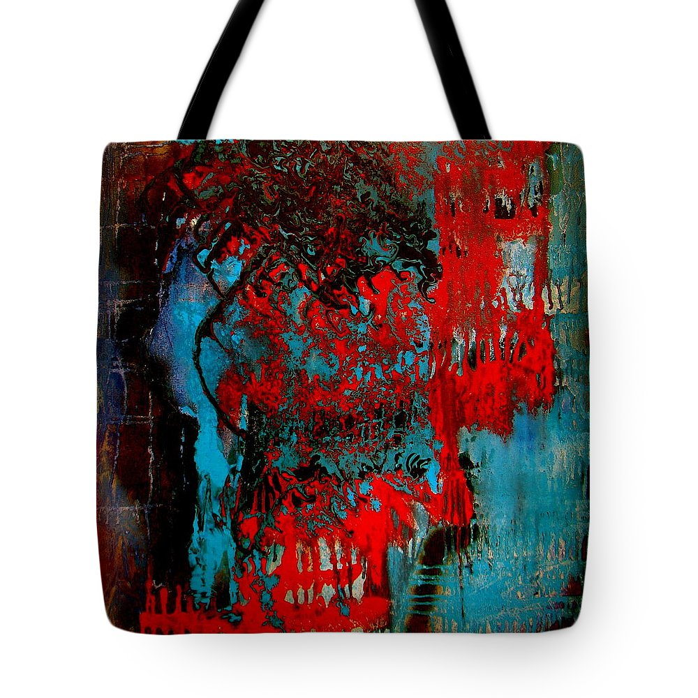 Abstract Tote Bag featuring the mixed media Abstract Play 04 by Alice Schwager