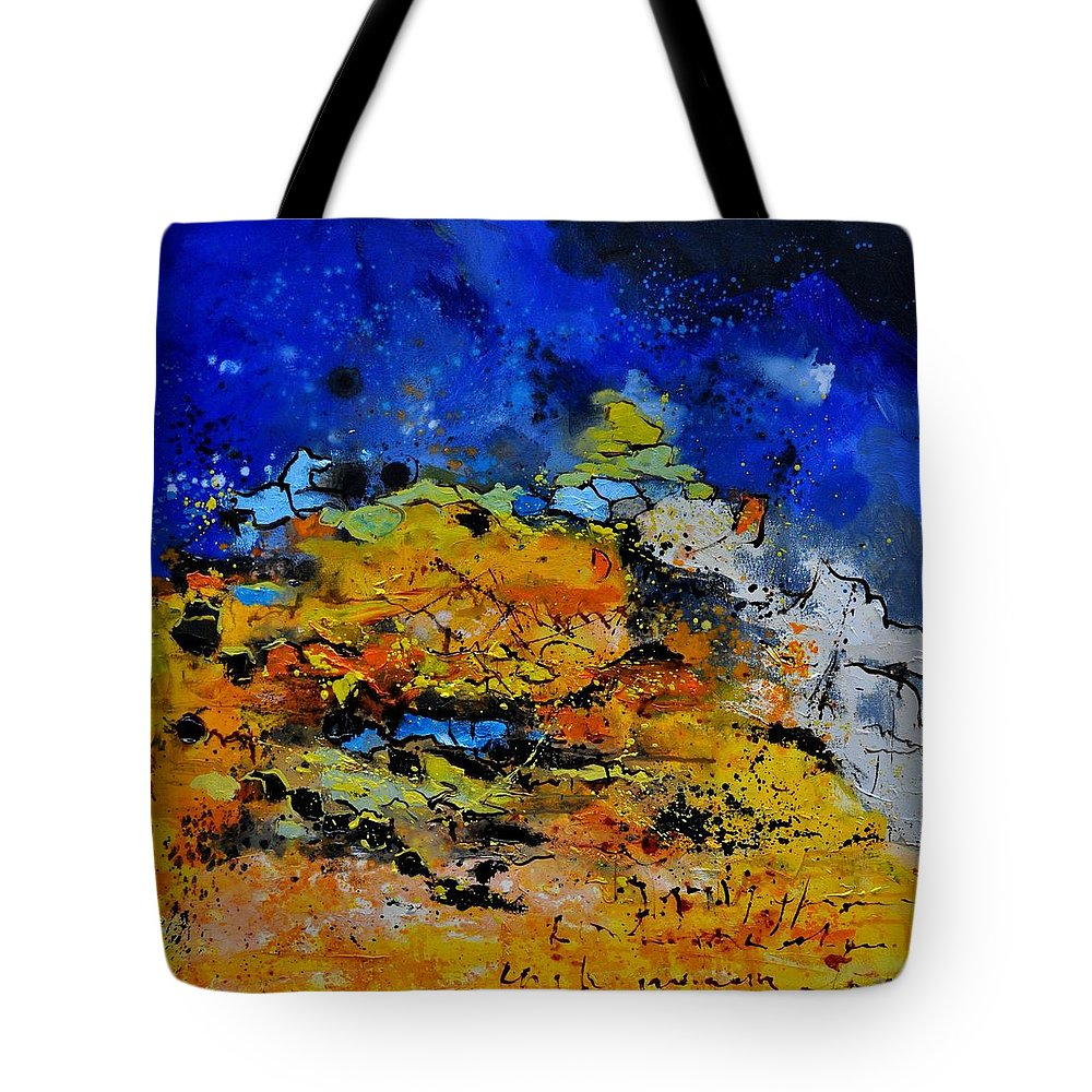 Abstract Tote Bag featuring the painting Abstract by Pol Ledent