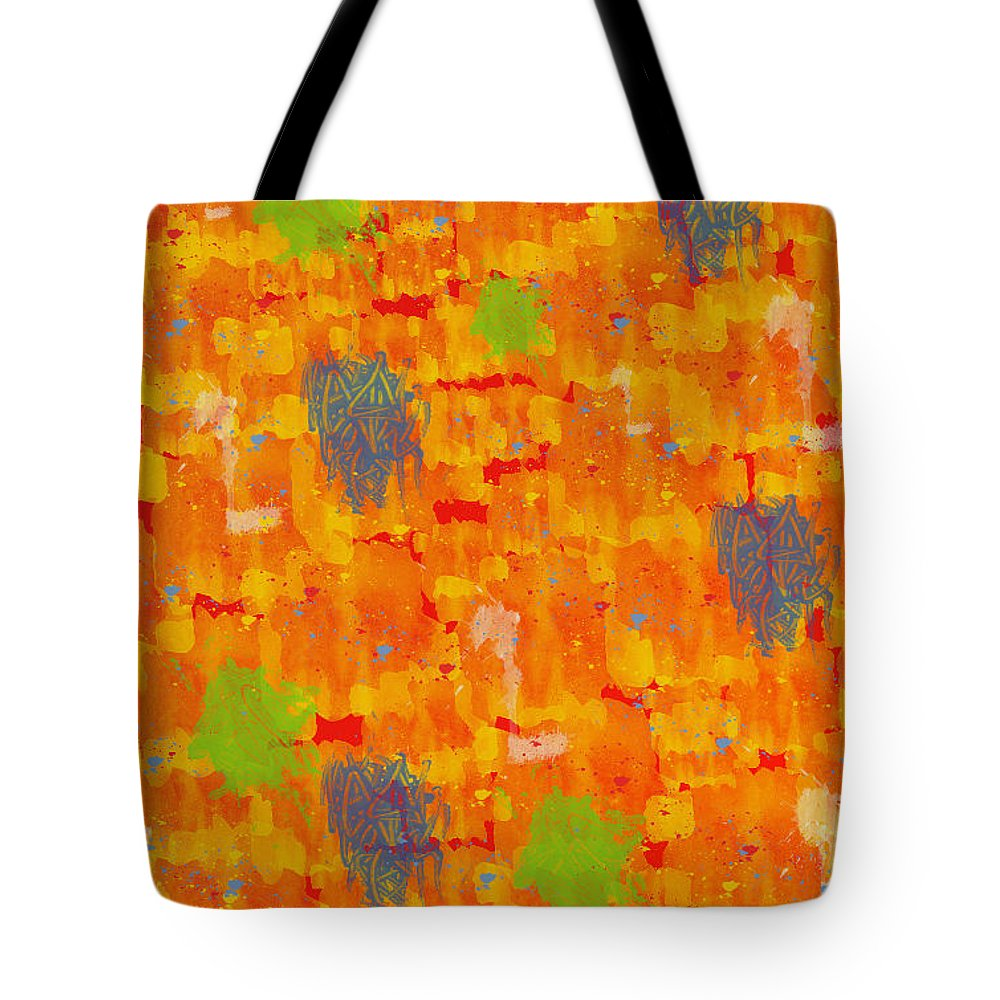 Abstract Tote Bag featuring the digital art Abstract by Rabia Shabbir