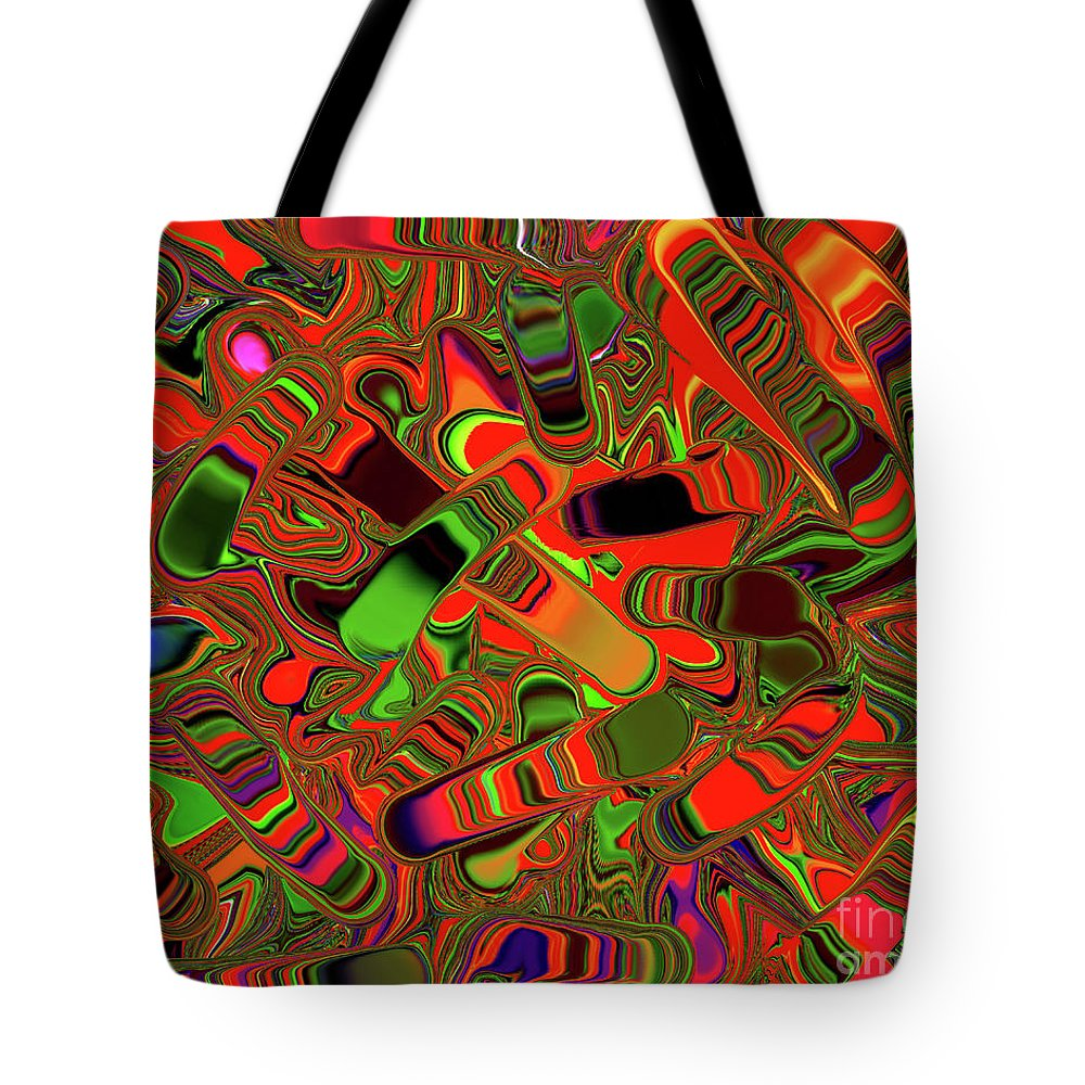 Abstract Rainbow Sliders Tote Bag featuring the photograph Abstract Rainbow Slider Explosion by Andee Design