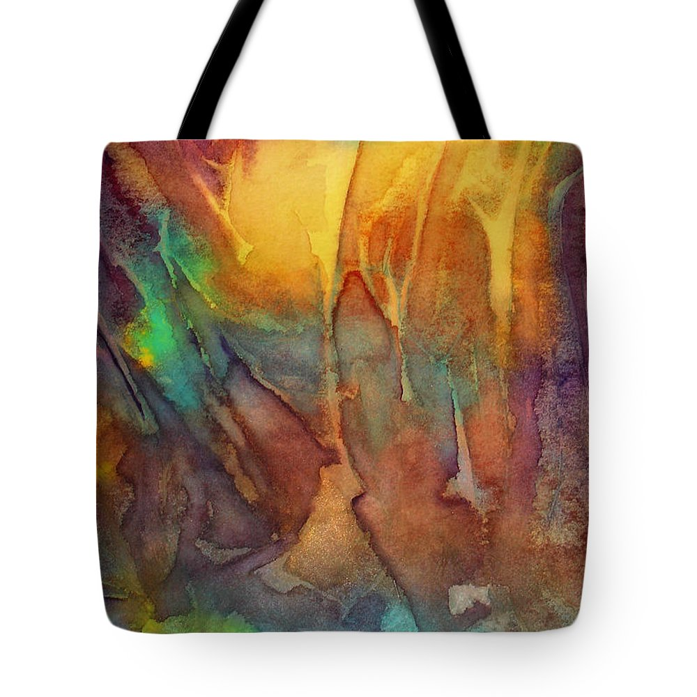 Abstract Tote Bag featuring the painting Abstract Reflection by Allison Ashton