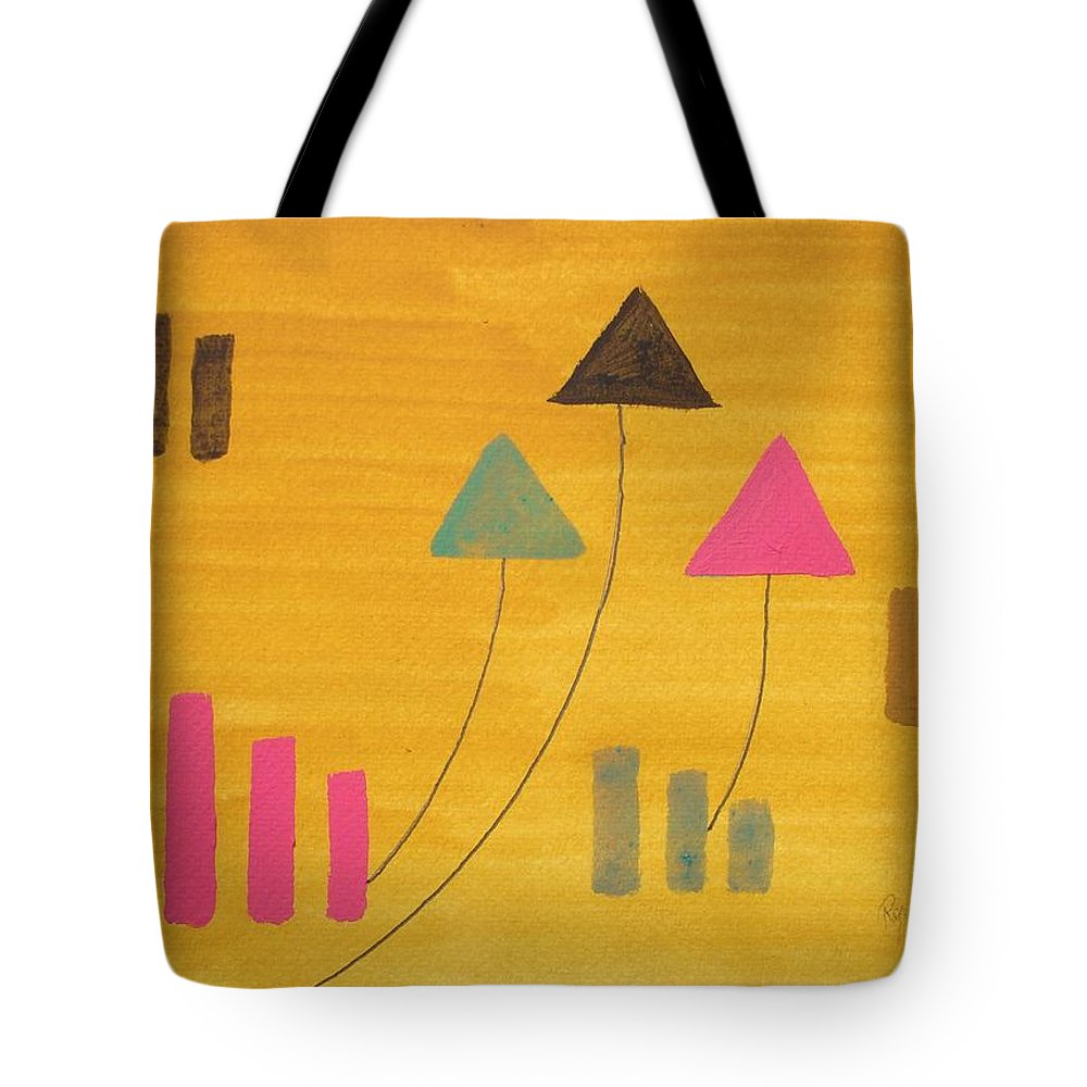 Abstract Tote Bag featuring the painting Abstract by Roger Cummiskey