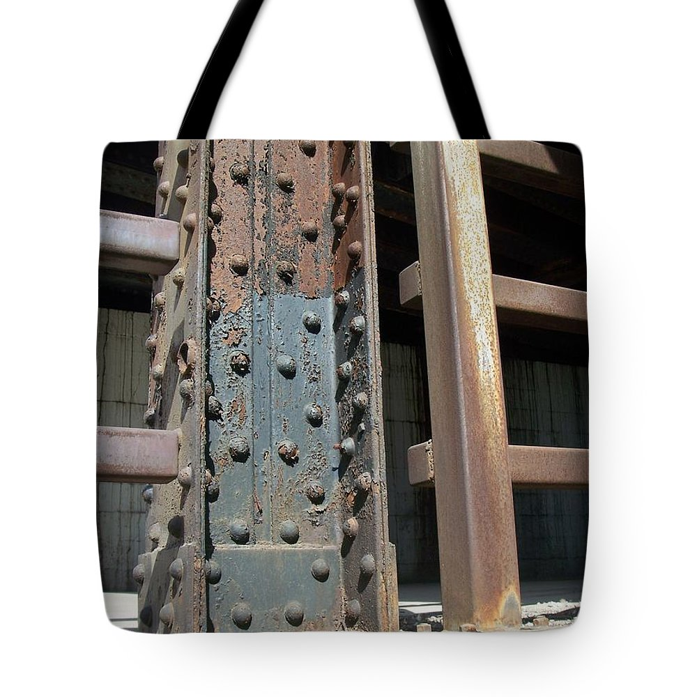 Urban Tote Bag featuring the photograph Abstract Rust 1 by Anita Burgermeister