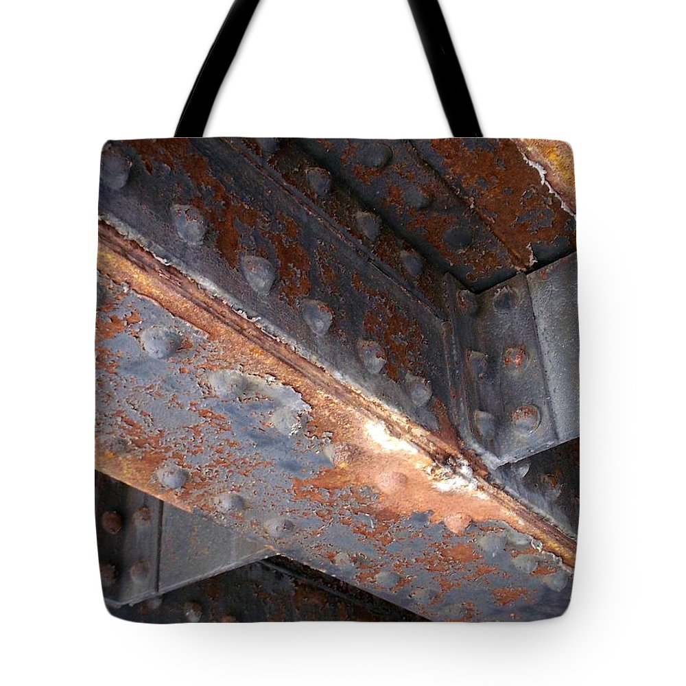Urban Tote Bag featuring the photograph Abstract Rust 3 by Anita Burgermeister