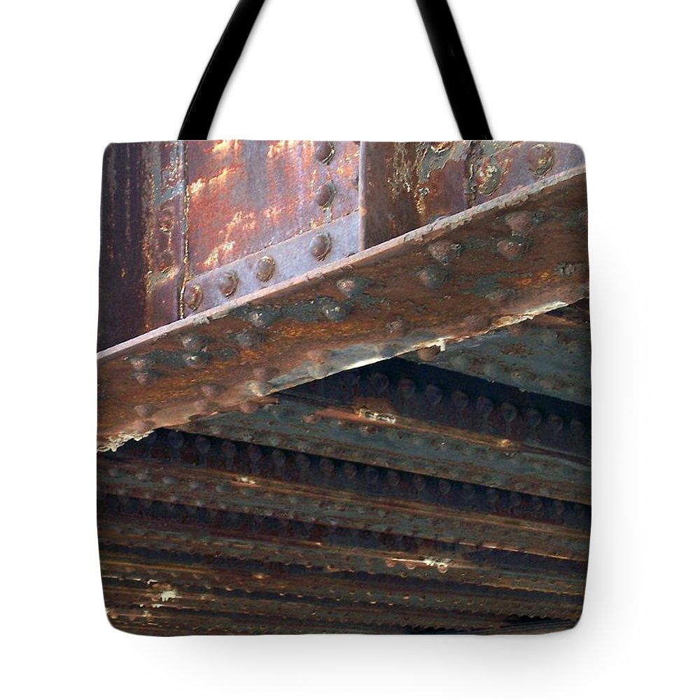 Urban Tote Bag featuring the photograph Abstract Rust 4 by Anita Burgermeister
