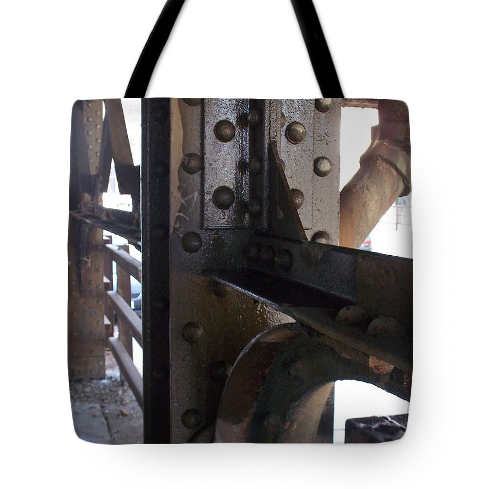 Industrial Tote Bag featuring the photograph Abstract Rust 5 by Anita Burgermeister