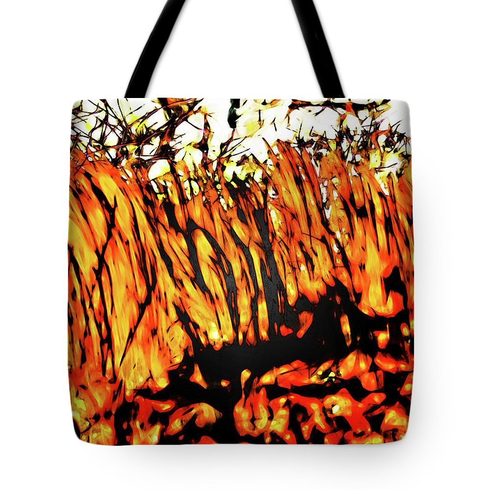 Figurative Abstract Tote Bag featuring the photograph Abstract Saw Grass Iv by Gina O'Brien