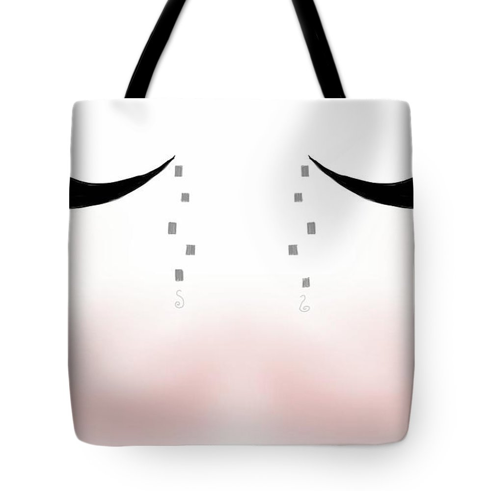 Digital Art Tote Bag featuring the painting Abstract State Of Mind by Nejandrea Corea