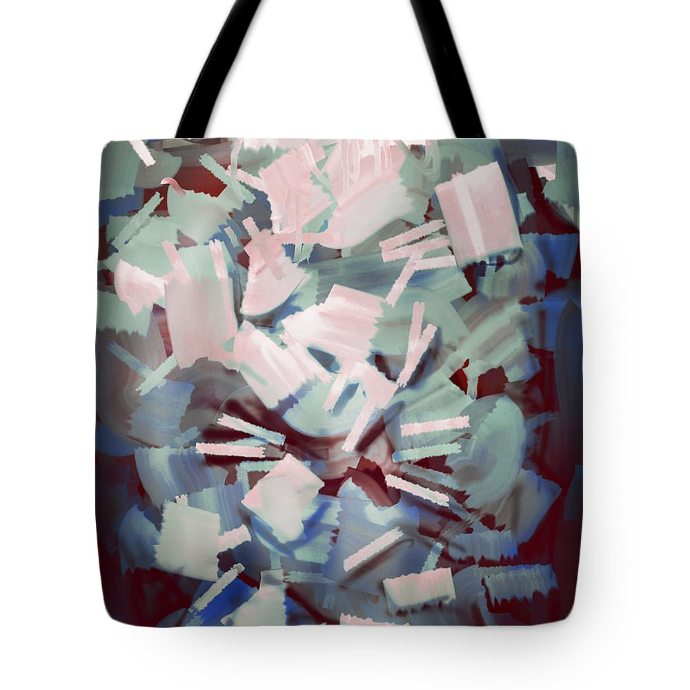 Abstract Tote Bag featuring the painting Abstract Stone Chaos by Rui Barros