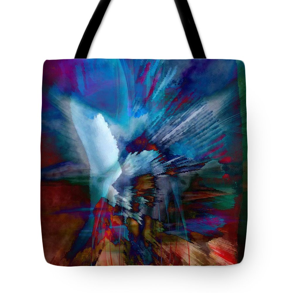 Abstract Visual Tote Bag featuring the painting Abstract Visual by Catherine Lott
