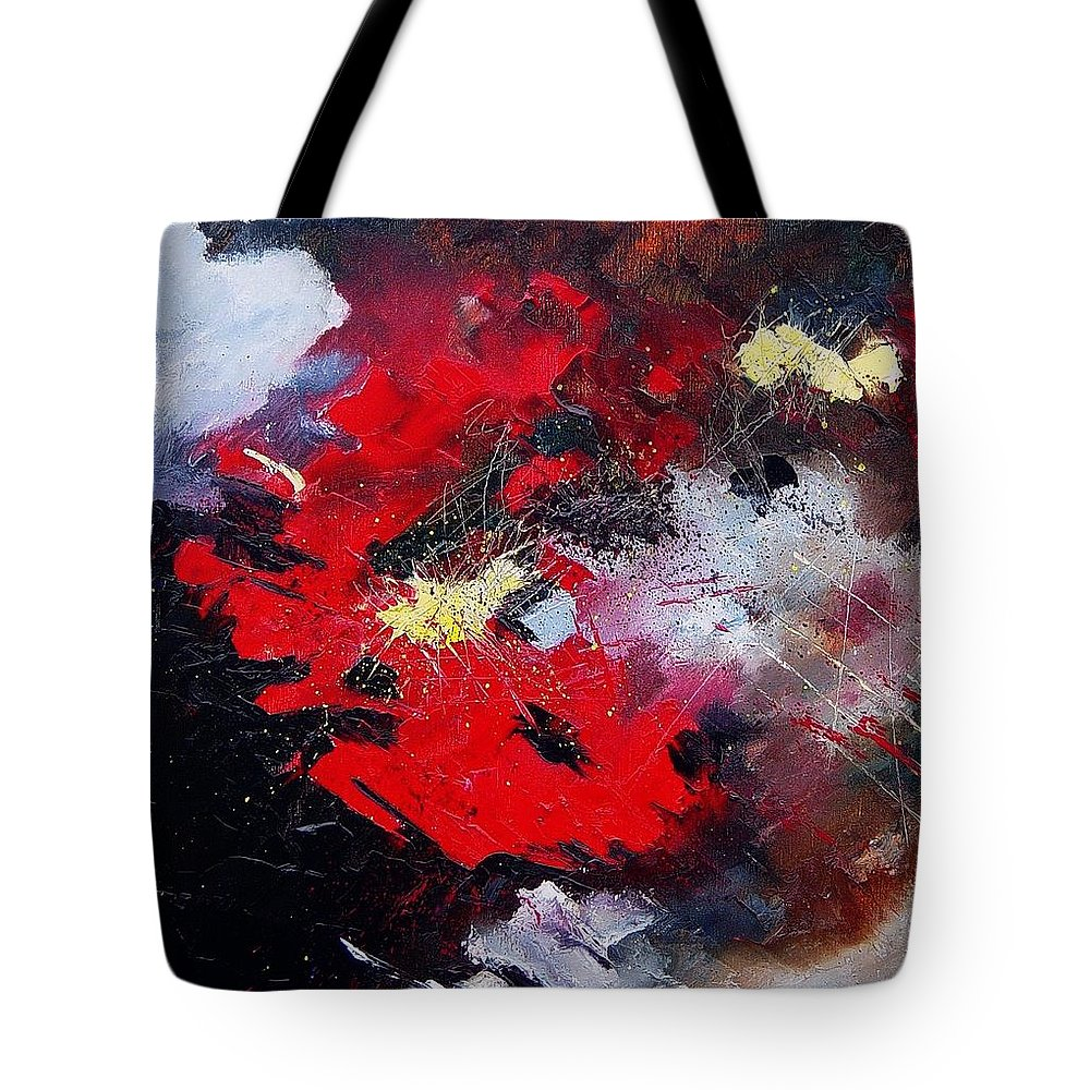 Abstract Tote Bag featuring the painting Abstract070406 by Pol Ledent