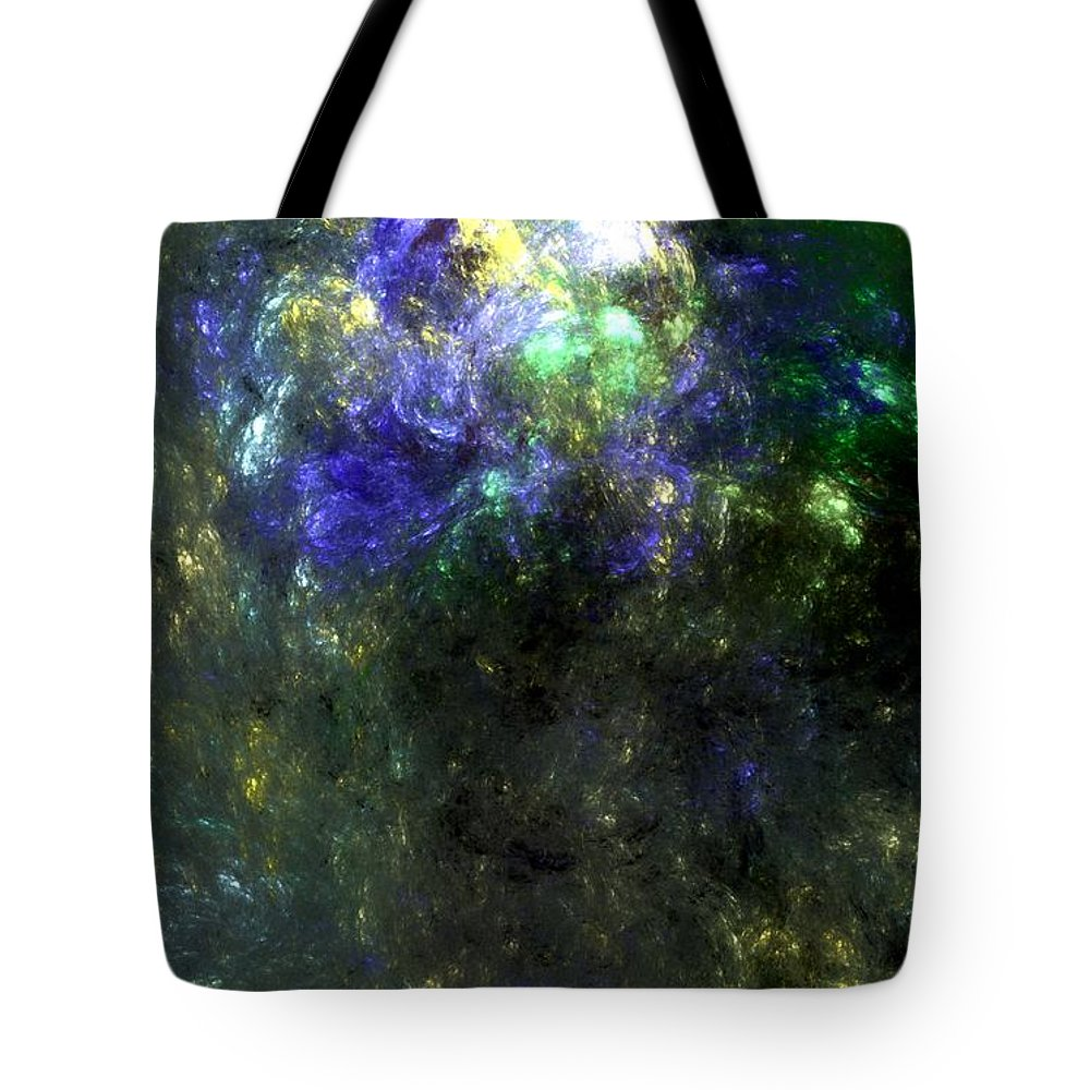 Abstract Expressionism Tote Bag featuring the digital art Abstract08-14-09 by David Lane