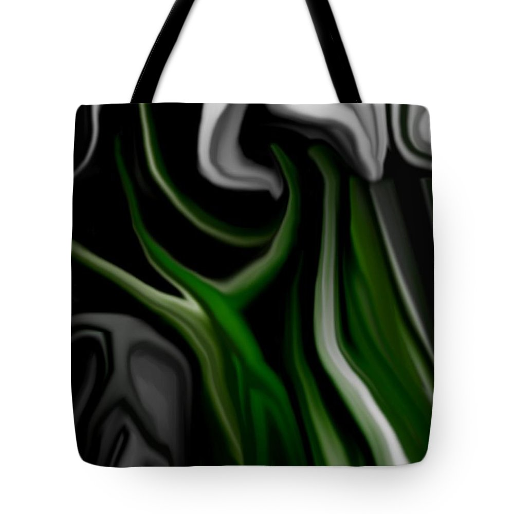Abstract Tote Bag featuring the digital art Abstract309h by David Lane