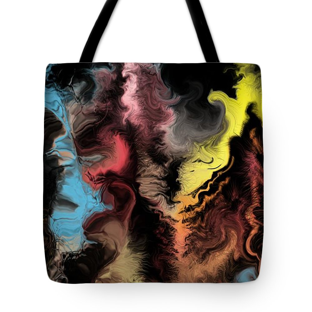 Abstract Tote Bag featuring the digital art Abstract309i by David Lane