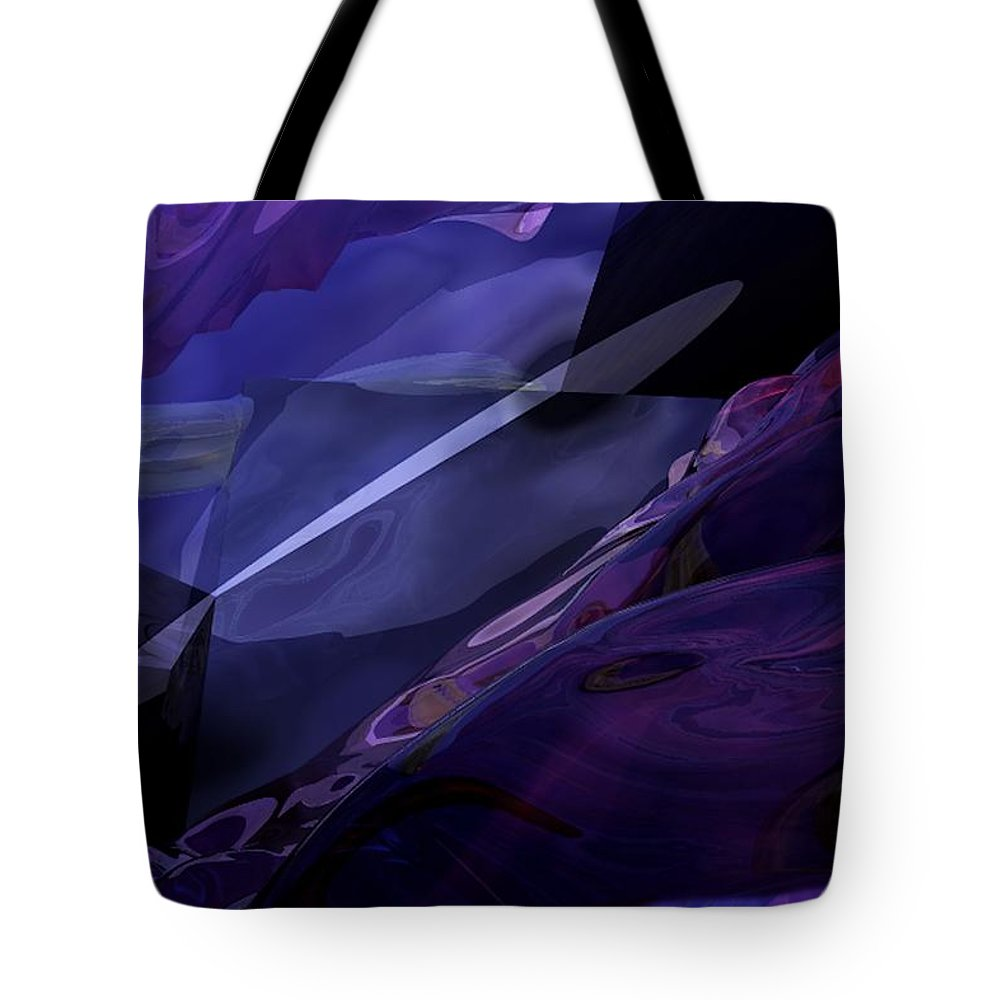 Abstract Tote Bag featuring the digital art Abstractbr6-1 by David Lane