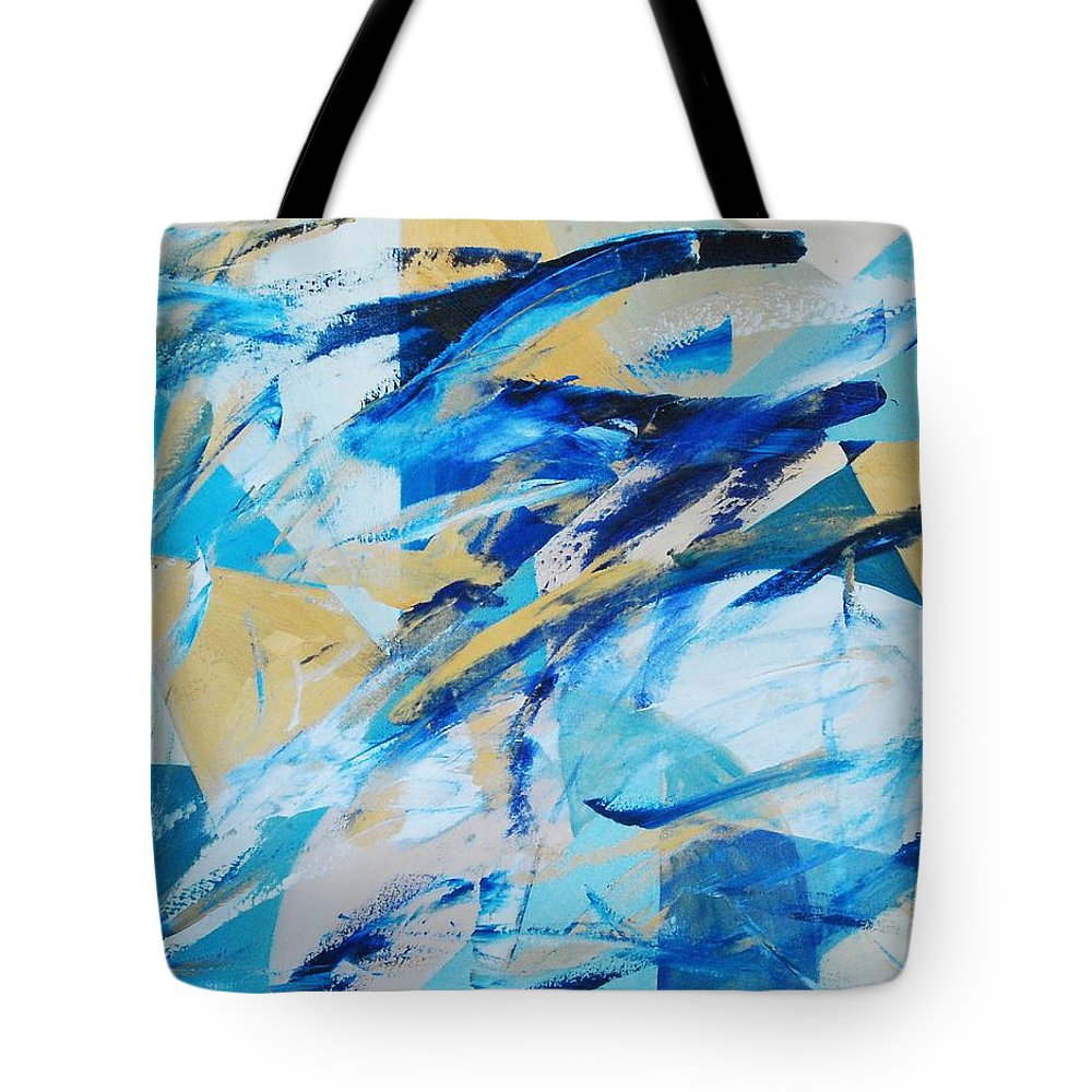 Geometry Tote Bag featuring the painting Abstracted Geometry by Lauren Luna
