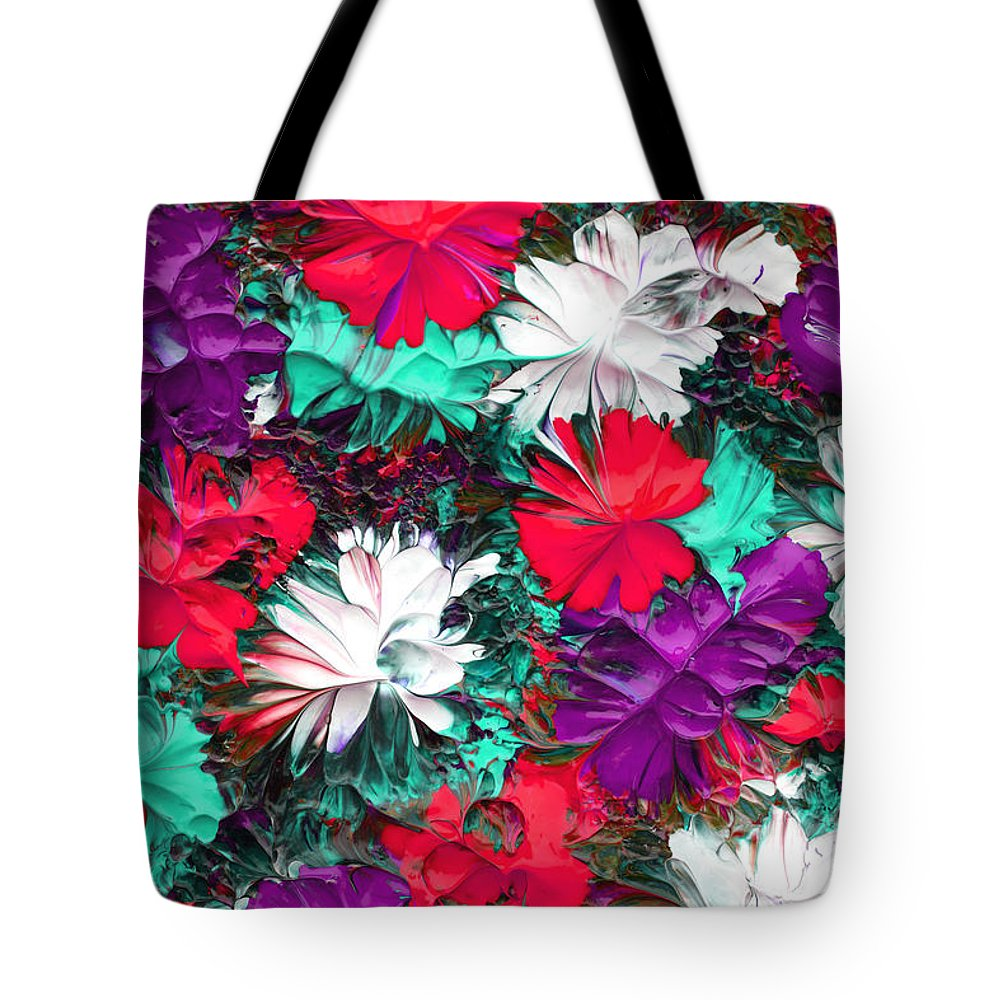 Abstract Tote Bag featuring the painting Abstractil212116 by Mas Art Studio