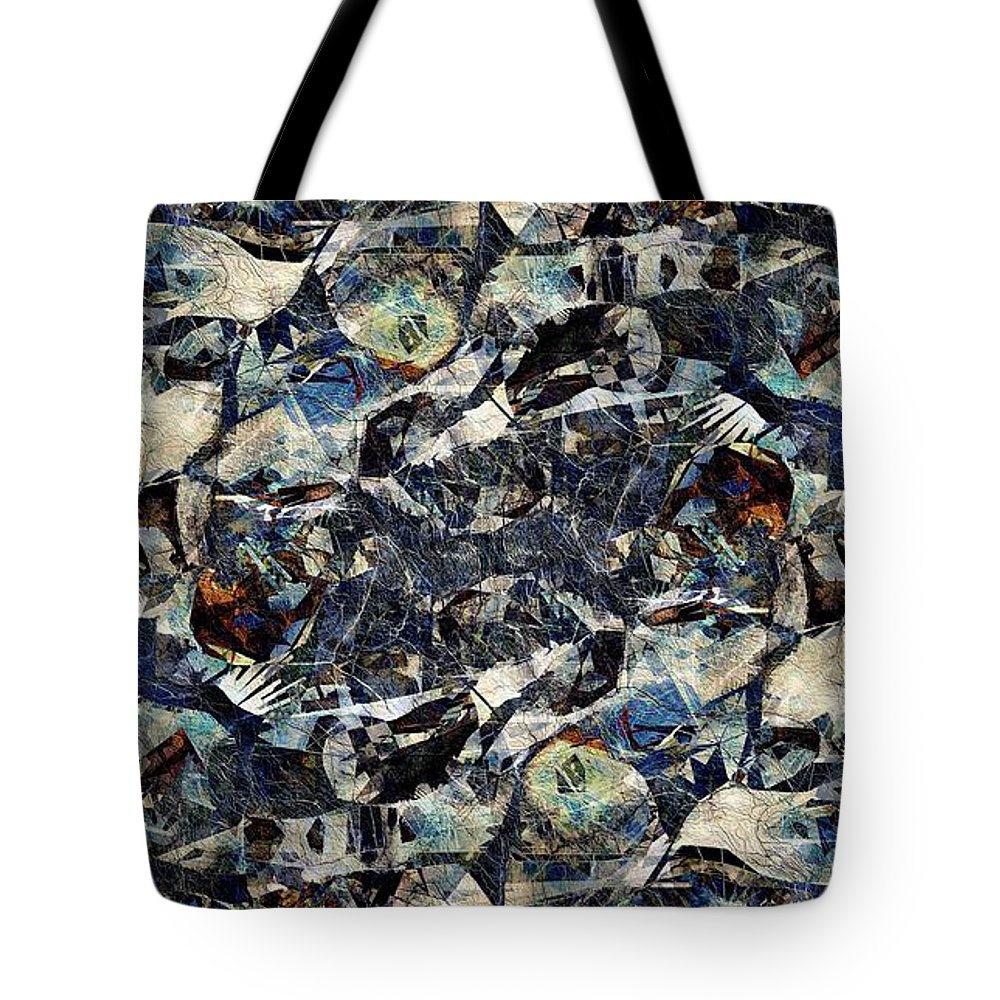 Abstraction Tote Bag featuring the digital art Abstraction 2326 by Marek Lutek