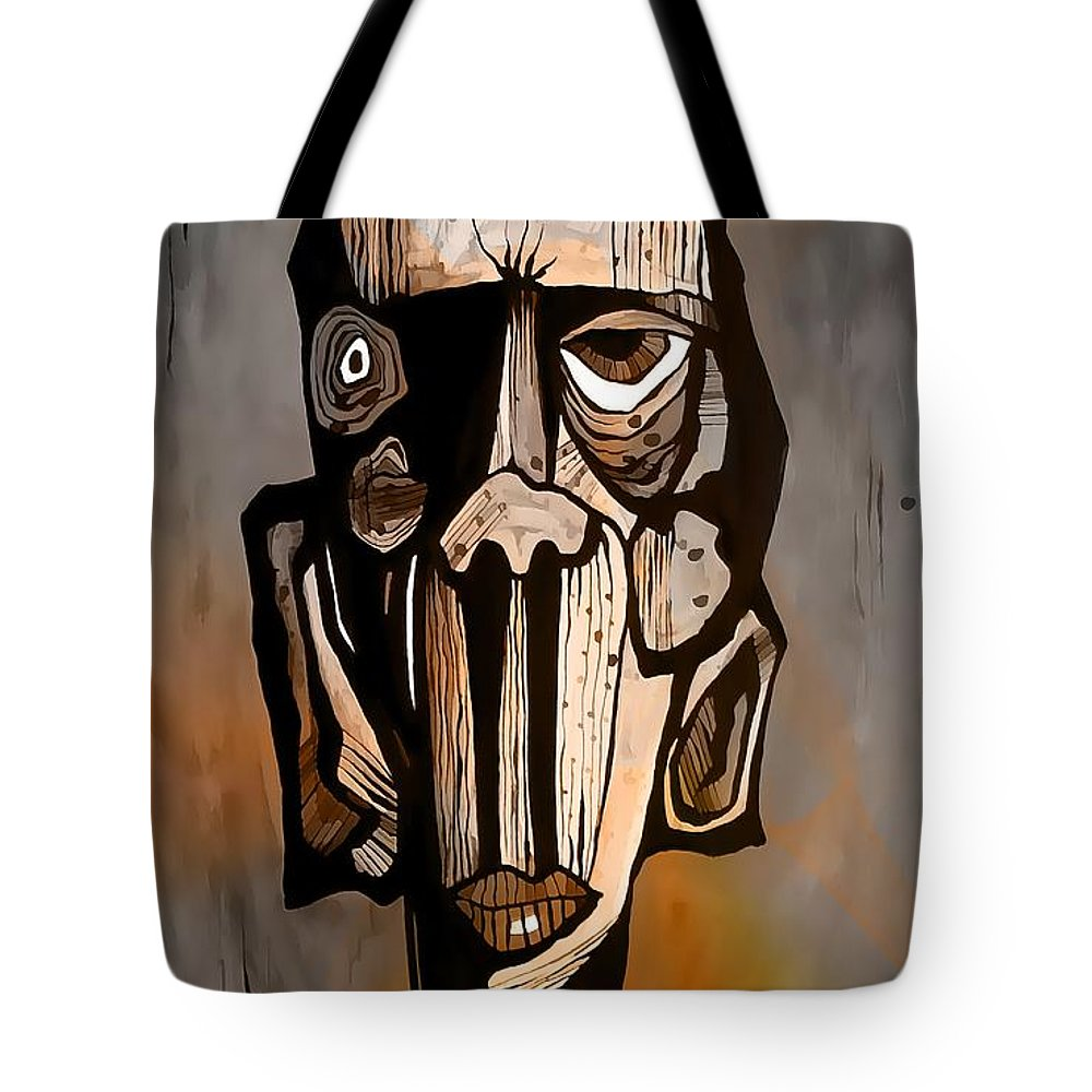 Abstraction Tote Bag featuring the digital art Abstraction 3292 by Marek Lutek